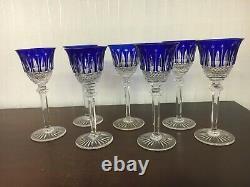 6 verres à vin en cristal de Saint Louis (prix à la pièce)