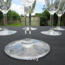 6 verres à vin en cristal de saint louis modèle cerdagne signé H 14 cm 2