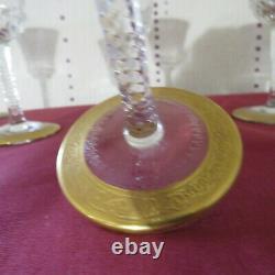 6 verres a vin en cristal de saint louis modèle thistle signé H 14,7 cm