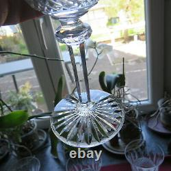 6 verres à vin en cristal de saint louis modèle tommy H 13,8 cm signé