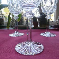 6 verres à vin en cristal de saint louis modèle tommy H 15 cm signé 1