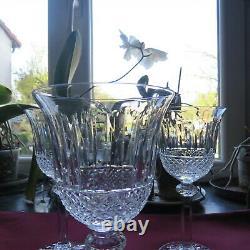 6 verres à vin en cristal de saint louis modèle tommy H 15 cm signé 2