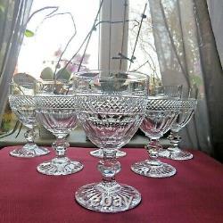 6 verres à vin en cristal de saint louis modèle trianon H 10,5 CM