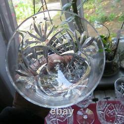 6 verres a vin en cristal saint louis modèle chantilly H 15 cm signé