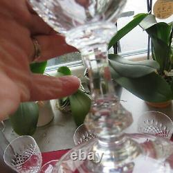 6 verres à vin en cristal saint louis modèle messine H 13 cm