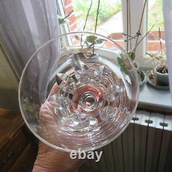 6 verres a vin rouge en cristal saint louis jersey pour le paquebot France H 13