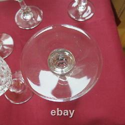 6 verres à vin rouge en cristal saint louis modèle messine H 14,5 cm