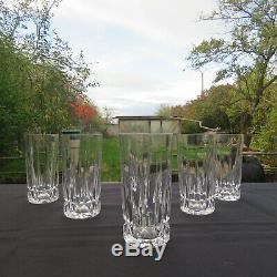 6 verres chopes a orangeade en cristal de saint louis modèle Guernesey signé 1