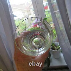 6 verres chopes a orangeade en cristal de saint louis modèle Lozère signé