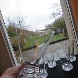 6 verres / chopes à orangeade en cristal de saint louis modèle diamant H 13 CM