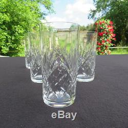 6 verres chopes à orangeade en cristal de saint louis modèle massenet signé