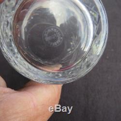 6 verres chopes à orangeade en cristal de saint louis modèle massenet signé 1