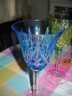 6 verres cristal de St Louis multicouche modèle TARN signés