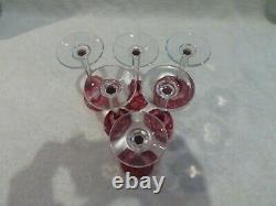 6 verres liqueur cristal rubis Saint Louis Massenet crystal Vodka Glasses