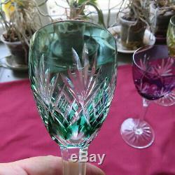 6 verres roemer en cristal taillé de lorraine saint louis modèle chantilly L2