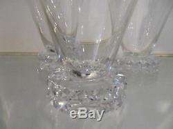 7 verres à eau 17cl cristal de saint louis mod Diamants (crystal water glasses)