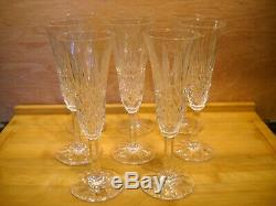 8 flûtes à champagne en cristal de St LOUIS modèle TARN H 18,50 cm