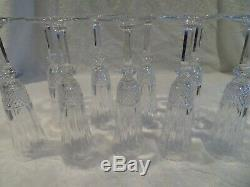 9 flutes à champagne cristal Saint Louis Tommy crystal champagne flutes
