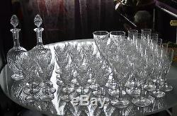 ANCIENNES 6 verres cristal TAILLE MOSELLE ST. LOUIS chaque pièce signée