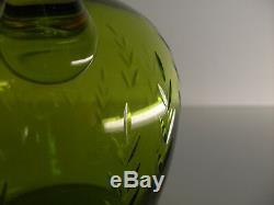 ANCIENNE SERVICE CARAFE ET 4 VERRES à liqueur EN CRISTAL TAILLE ST LOUIS SIGNE