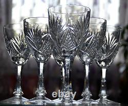 ANCIEN 6 verres en cristal ST. LOUIS signée MODELLE MOSELLE