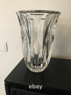 Ancien Grand Vase Cristal Saint Louis Modèle Dartagnan France French Antique