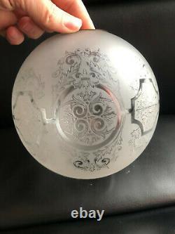 Ancien Petit Globe Lampe A Petrole Cristal Saint Louis Baccarat
