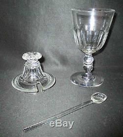 Ancien moutardier de table en cristal taillé Saint-Louis XIX ème