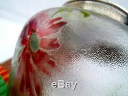 Ancien sceau a biscuit en cristal dégagé a l acide daum saint louis baccarat