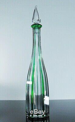 Ancienne Carafe Cristal Couleur Double Vert Taille St Louis Catalogue 1908