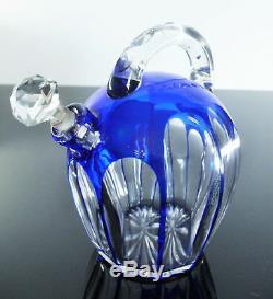 Ancienne Carafe Liqueur Digestif En Cristal Double Couleur St Louis 1930