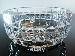 Ancienne Coupe Saladier En Cristal Massif Taille Diamant St Louis Signée