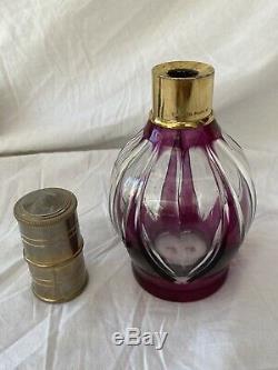 Ancienne Lampe Berger En Cristal De Saint Louis Violette