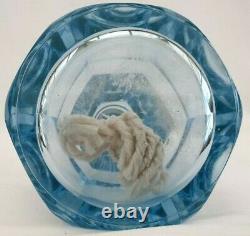 Ancienne Lampe Berger cristal coloré, Baccarat ou St Louis