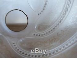 Ancienne Paire De Globes Cristal St Louis Lampe A Petrole Huile Carcel XIX