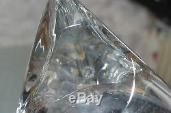 Ancienne Pied De Lampe En Cristal Massif Souffle (baccarat) St Louis Signe