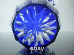 Ancienne Service Digestif Cristal Couleur 4 Gobelets Carafe Catal. 1930 St Louis