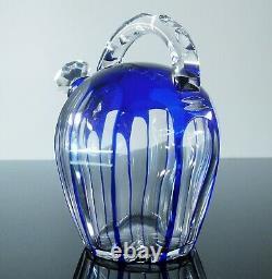 Ancienne Service Digestif Cristal Couleur 4 Goblets Carafe Catal. 1930 St Louis