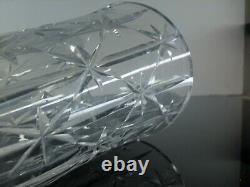 Ancienne Vase En Cristal Souffle Taille Diamant St Louis Signée