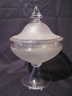 Ancienne bonbonnière drageoir cristal époque siècle XIX Baccarat ou Saint Louis