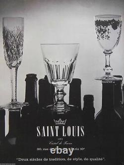 Anciennes 6 Verres Digestif En Cristal Taille Cotes Plates Caton St Louis 1900