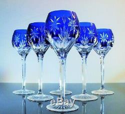 Anciennes Grand 6 Verres A Vin Cristal Couleur Taille Souffle St Louis Bohème