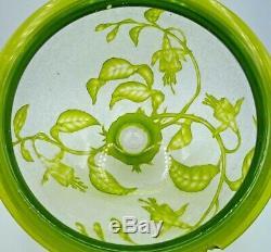 BACCARAT-Rare suspension art nouveau-travail acide et roue-daum-gallé-st louis