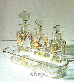 BACCARAT/ST LOUIS cristal couronne triomphale héraldique 19 ème