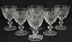 BACCARAT ou SAINT-LOUIS 6 Verres à Vin Rouge Cristal Moulé Pointes de Diamant