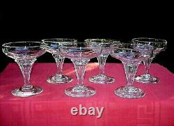 Baccarat Champenoise Coupe A Champagne Cristal Saint Louis Caton Cotes Plates An