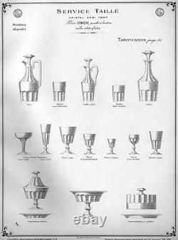 Baccarat Saint Louis Caton Drageoir Sucrier Cristal Taillé Côtes Plates 19ème B