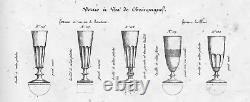 Baccarat Saint Louis Caton Flutes A Champagne Cristal Taillé Côtes Plates 19ème
