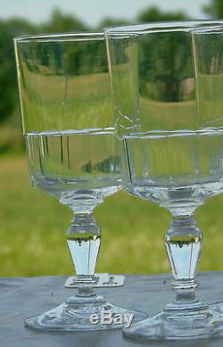 Baccarat Saint Louis Service de 6 verres à eau en cristal taillé
