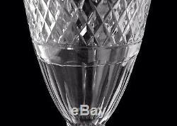 Baccarat / Saint Louis / Vase Médicis En Cristal Taillé Cerclage Perles XIX Éme